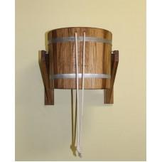 Обливное устройство City Wood 20 л с пластиковой вставкой