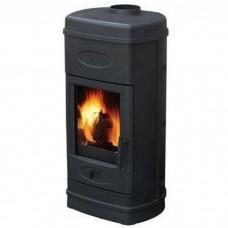 Печь-камин AURORA эмалированная (черная)