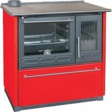 Отопительно-варочная печь Plamen 850 Glas красная